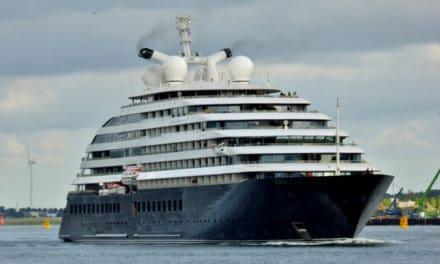 Extreem luxe mini-cruiseschip Scenic Eclipse in Rotterdam te zien
