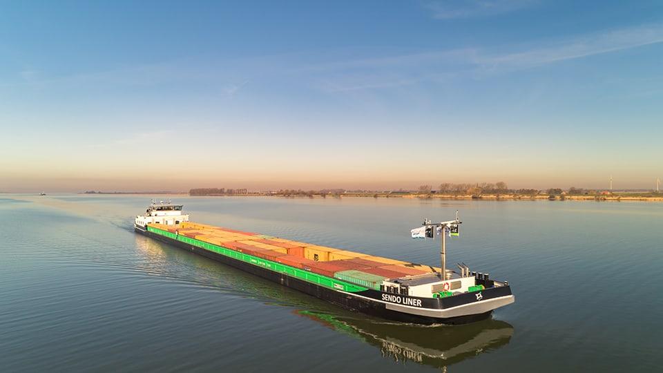 Schip van de toekomst, de Sendo Liner, aanwezig tijdens Wereldhavendagen in Rotterdam op zaterdag 7 en zondag 8 september 2019