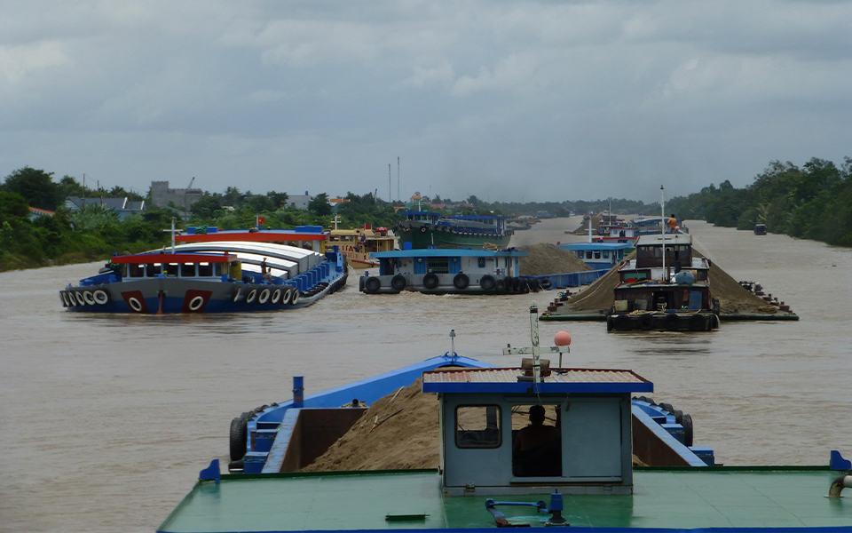 het Cho Gaokanaal in Vietnam