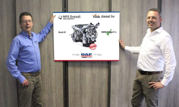 "NPS Diesel en Vink Diesel introduceren  MARINE POWERED BY DAF: ""Schoner is niet duurder"""