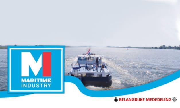 Maritime Industry uitgesteld tot 13, 14 en 15 oktober 2020
