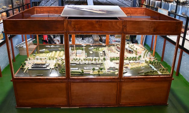 de wederopbouw van scheepswerf De Biesbosch in Dordrecht