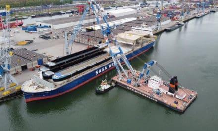 Concordia Damen: aankomst 7 casco's