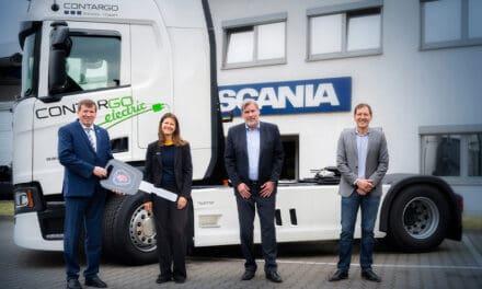 Contargo test bovenleidings-hybride vrachtwagen in Hessen