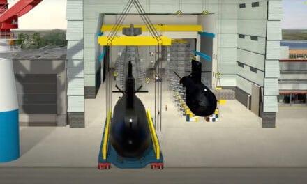 Faciliteit Huisman met Submarine Handling Kraan klaar voor vervanging Walrus klasse onderzeeboten