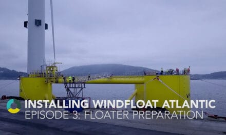 """Release of the 3rd episode of the video series """"Installing WindFloat Atlantic"""""""