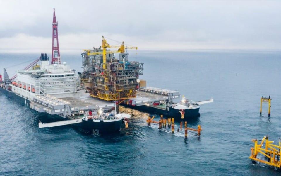 Pioneering Spirit 'vervangt' Deens offshore-monument
