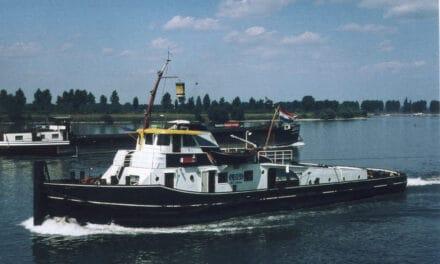 de 'Donald Duckies', sleepboten van de Nederlandsche Rijnvaart Vereeniging