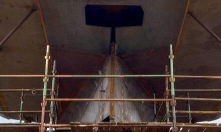 Kiellegging voor twee Belgische vissersschepen door Damen Maaskant Shipyards Stellendam