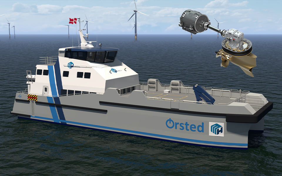 Volvo Penta uses pilot technology in one of the UK's first hybrid crew transfer vessels