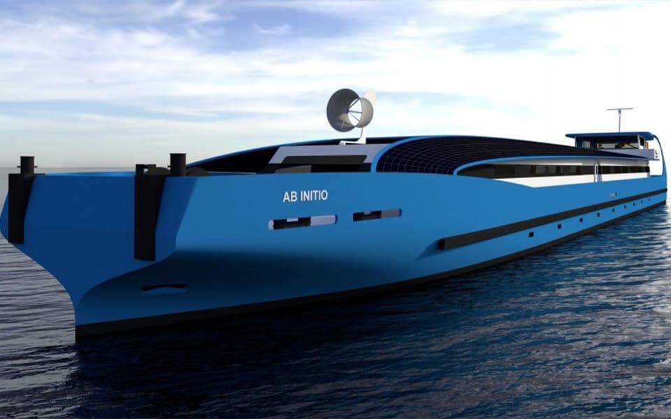 Casco opleidingsschip in aanbouw