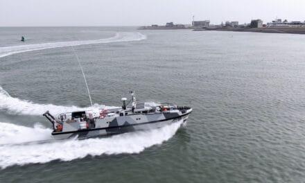 """Doop en overdracht Expeditionary Survey Boat """"Hydrograaf"""" bij Damen Shipyards"""