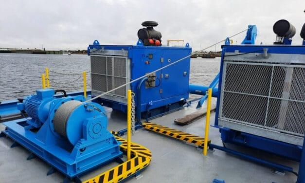 Van der Leun Amerika levert succesvolle installatie voor Water Injection Dredge (WID) Osprey