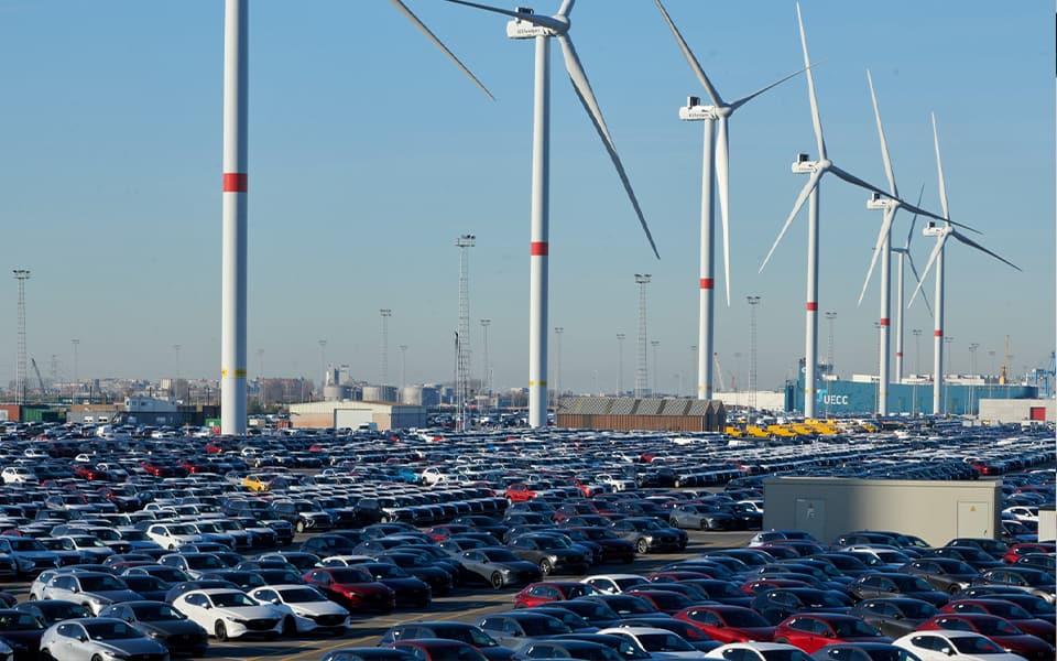 Nieuw onshore windpark laadt 20 000 elektrische voertuigen per week op