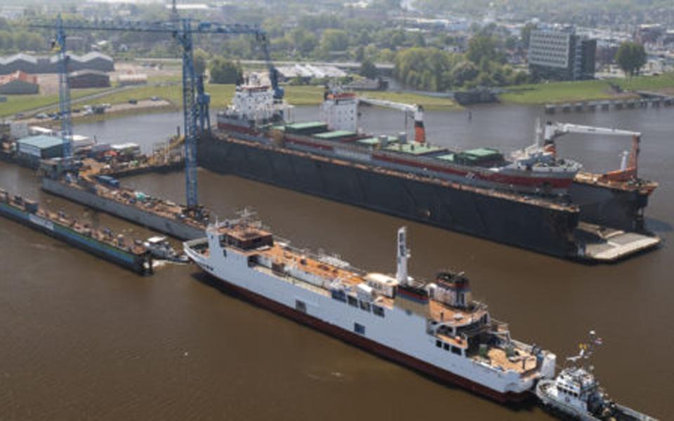 """LNG conversie project """"Münsterland"""" bereikt laatste fase met afbouw interieur"""