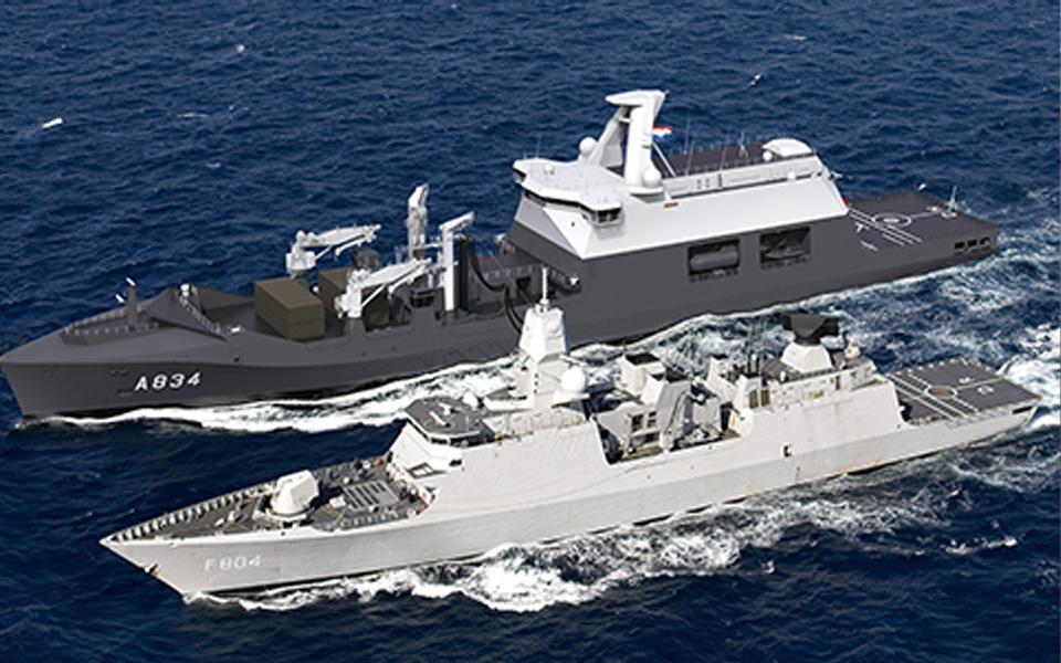 Kiel legging Combat Support Ship bij Damen Naval in Roemenië