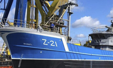 Damen Maaskant Shipyards Stellendam gestart met afbouw kotter Rederij Devan