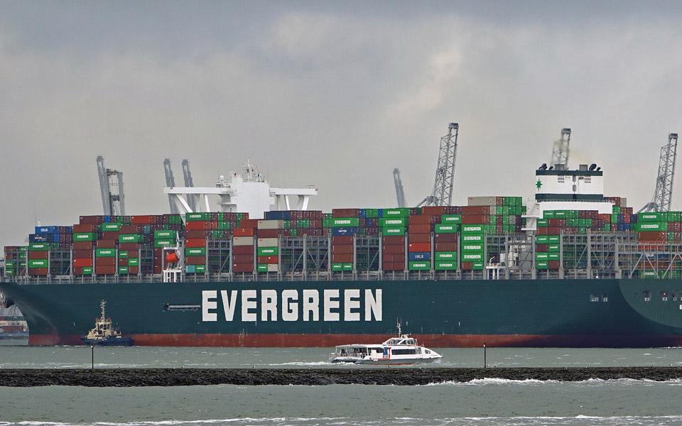 Ever Given arriveert 28 juli bij ECT in Rotterdam