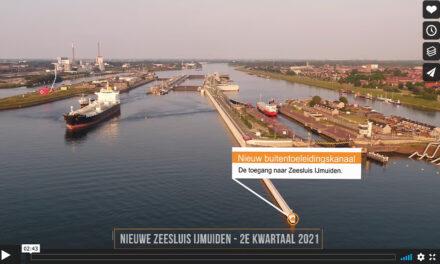 Dronevideo werkzaamheden Zeesluis IJmuiden