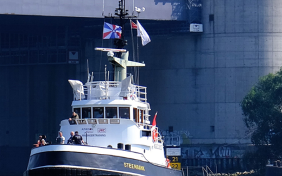 Alphatron Marine zet vintage sleepboot in voor maritieme training medewerkers